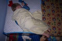 noah sleeping feet train toddler funny