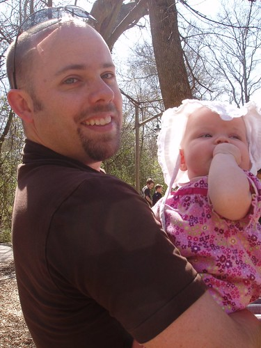 Daddy and his girl at the zoo