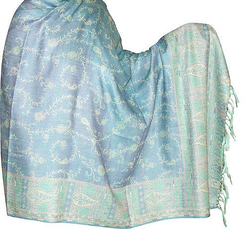 Shawl Scarf Jamawar Wool Womens Wrap Stole