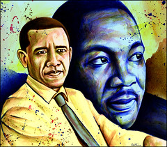 Colorful people for a Better World, Barack Obama, Martin Luther King (Ben Heine) Tags: africa wallpaper portrait news black art illustration portraits print poster death us fight colorful noir peace force unitedstates kenya brothers united victim president politics evolution icon revolution hopes change leader candidate info colourful ideal multicultural copyrights hillaryclinton administration legend healthcare democrats mlk couleur myth struggle antiracism droom opinion martinlutherkingjr assassination afp nobelprize controversial barackobama reforms colors 40years presidency ihaveadream politicalart victime watercolorpainting icne yeswecan michelleobama johnrailey jaiunrve obamacare counterspinyc infotheartisterycom