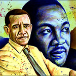 Colorful people for a Better World, Barack Obama, Martin Luther King