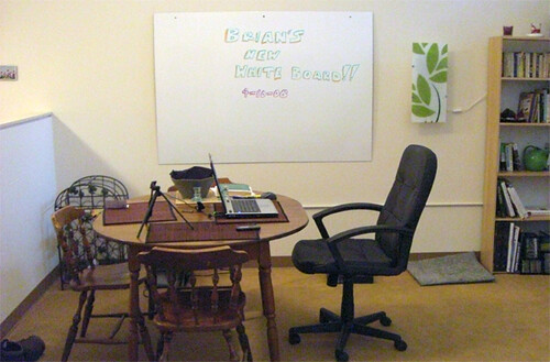 My new office (aka the dining room)