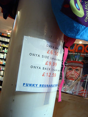 Onya bags in Kew Gardens Oliver's Health Food shop