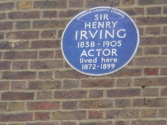 Photo of Henry Irving blue plaque