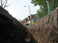 Trench View (Z303) Tags: bristol roadworks trench bs6 coldharbourroad