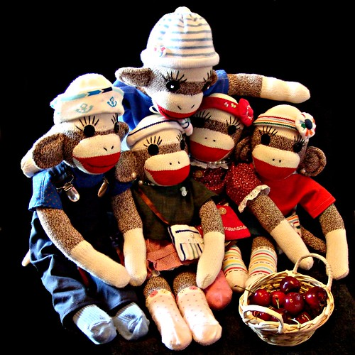 Do sock monkeys like to eat cherries?