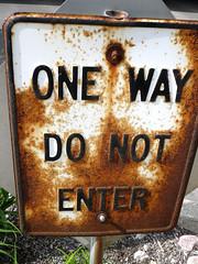 Rusty Sign (Bart Heird) Tags: sign rusty