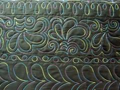 one block wonder backing (Jessica's Quilting Studio) Tags: arizona thread phoenix contrast jones back quilt jessica border quilting variegated custom backing longarm machinequilting gamez longarmquilting photoshopalbum jessicabrunnemer kingtutthread