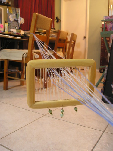 Weaving on semi-rigid heddle