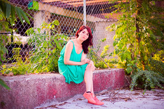 "(Isai Alvarado) Tags: cintli cin woman model winter dress redhead lips smile portrait stock sunlight light soft street urban cute sun hair legs field lovely sexy hot bokeh dof focus blur cine cinema cinematic film movie 50mm ""50mm f14 g"" nikon d800 isai alvarado ""isai fotografia"""