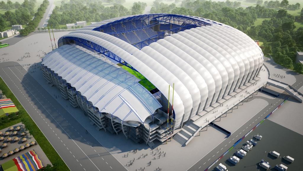 Stadion Poznań estadio Polonia Poland soccer futbol