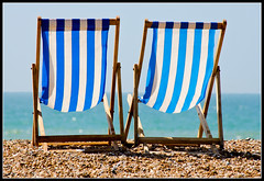 Deckchairs (Azurian Vista) Tags: england beach sussex nikon brighton chairs britain deck promenade nikkor 55300mm d7000