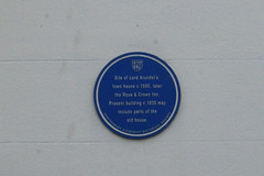 Photo of Thomas Arundell and Rose and Crown, Shaftesbury blue plaque