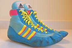Combat Speed Size 10 (doodle_city) Tags: adidas teals ringers wrestlingshoes combatspeed combatspeeds