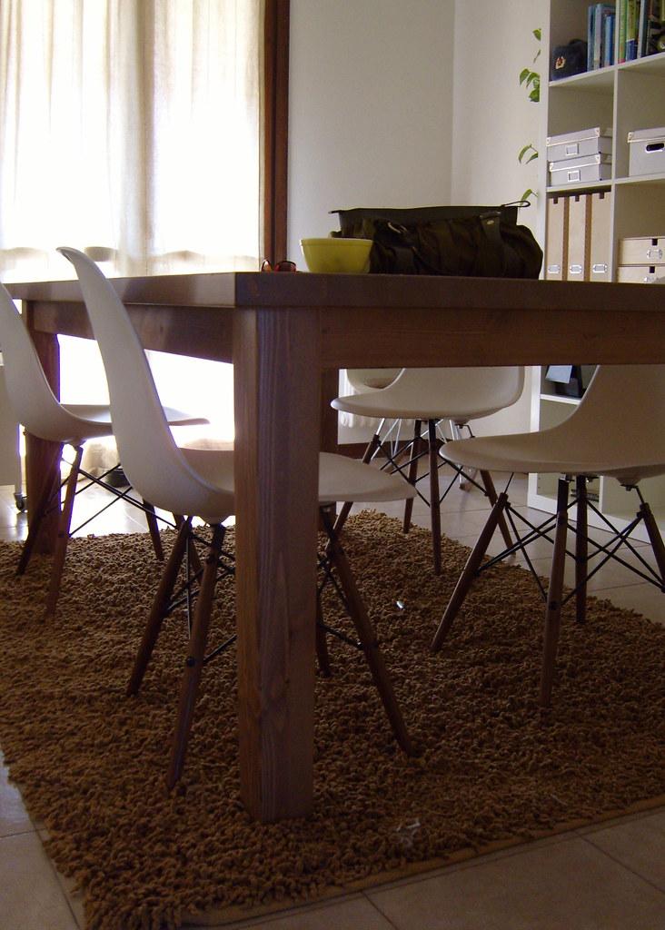 Ikea table, wonderful chairs