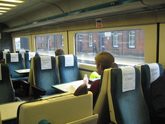 Interior of Inter City 125 train