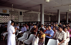 A health education class at Colombo hospital