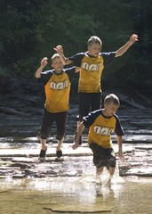 3 gabes deux (Michael William Thomas) Tags: summer usa sun mike water kids creek photoshop fun fly photo jump action thomas journal freeze letchworth splash vio mikethomas chautaqua michaelthomas biggestgroup viovio mtphoto cmndrfoggy