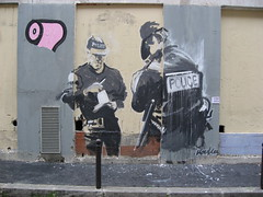 by Kouka (tofz4u) Tags: streetart paris police pq artderue 75011 kouka explored