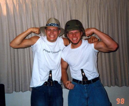 Chris and Tim at the Gun Show