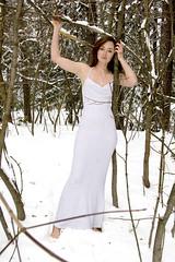 122907 (austinspace) Tags: park portrait woman snow washington spokane dress redhead explore manito conceptphoto