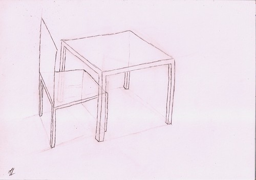 how to draw a chair with a table study box table and chair
