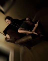 I'm a slow motion accident (elise*marie) Tags: selfportrait blur chair soft spinning commentsbest
