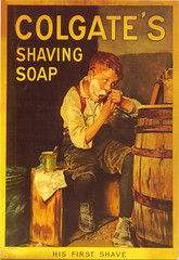 Tag card 23 (purpi_purp) Tags: boy vintage postcard postcrossing card american shaving colgate 1908 reprint