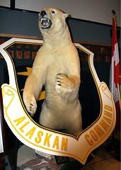 BINKY LIVES at Elmendorf (livininfrostytown) Tags: bear alaska stuffed polarbear airforce elmendorf frostytown superbmasterpiece reinlistment