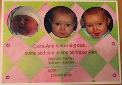 Clara Ann's invitation