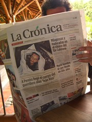 Morning paper in Colombia - a sobering reminder of some of the difficulties in Colombia