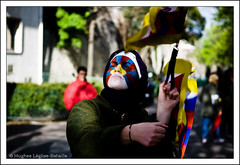 (Hughes Lglise-Bataille) Tags: china paris france face democracy paint protest free tibet demonstration tibetan humanrights 2008 manif chine manifestation