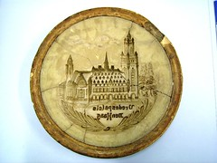 marzipan form, with Peace Palace decoration (peacepalacelibrary) Tags: marzipan peacepalace memorabilia