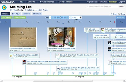 Dipity: See-ming Lee / 2008-04-25 / SML Screenshots (by See-ming Lee 李思明 SML)