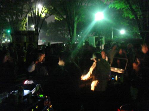 Outdoor dance party Tokyo