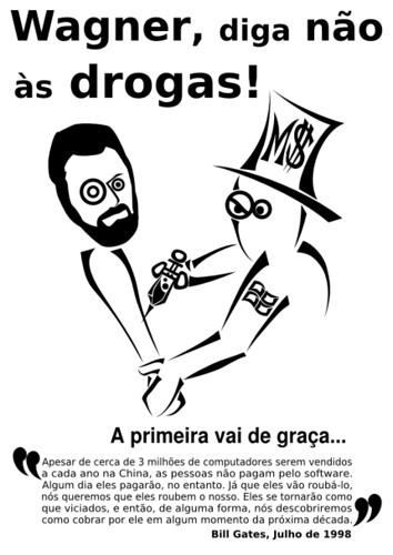 Campanha contra Software Proprietário na Bahia