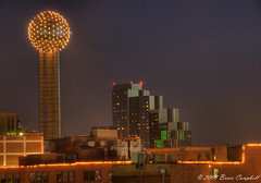 Reuninon Tower at night (b.campbell65) Tags: downtown blueribbonwinner golddragon superbmasterpiece excellentphotographerawards dragongoldaward dallashdr
