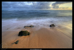 Memory of Lawaii's Beach (Arnold Pouteau's) Tags: ocean sunset beach hawaii pacific kauai poipu lawaii