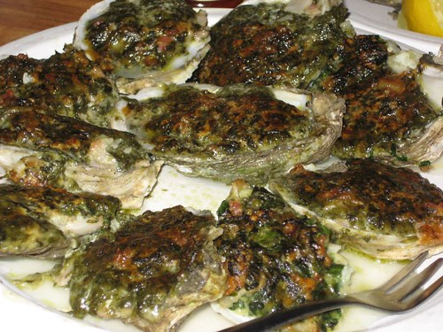 Oysters Rockefeller at the Seaside Raw Bar