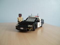 CHP Chevrolet Camaro (2) (Mad physicist) Tags: chevrolet lego camaro policecar chp figures lugnuts californiahighwaypatrol