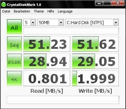 HP 2133 Festplattentest