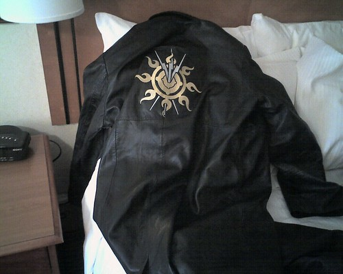 Acheron Jacket on bed.