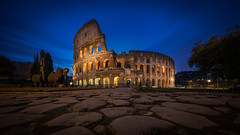 Colosseum (Bastian.K) Tags: rom italien rome colyseum colysseum kolosseum kollosseum colossus colosseo collosseo architecture antik antique historic historical blue hour ultra wide angle uwa 10mm vm10mm56 vm1056 voigtlander 56 blaue stunde altstadt italy italia roma