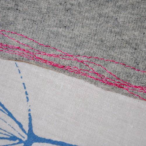 pink hem detail