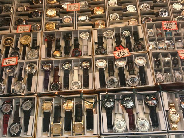 infinite number of fancy watches #walkingtoworktoday