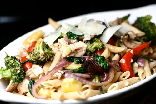 Roasted Vegetable and Chicken Pasta