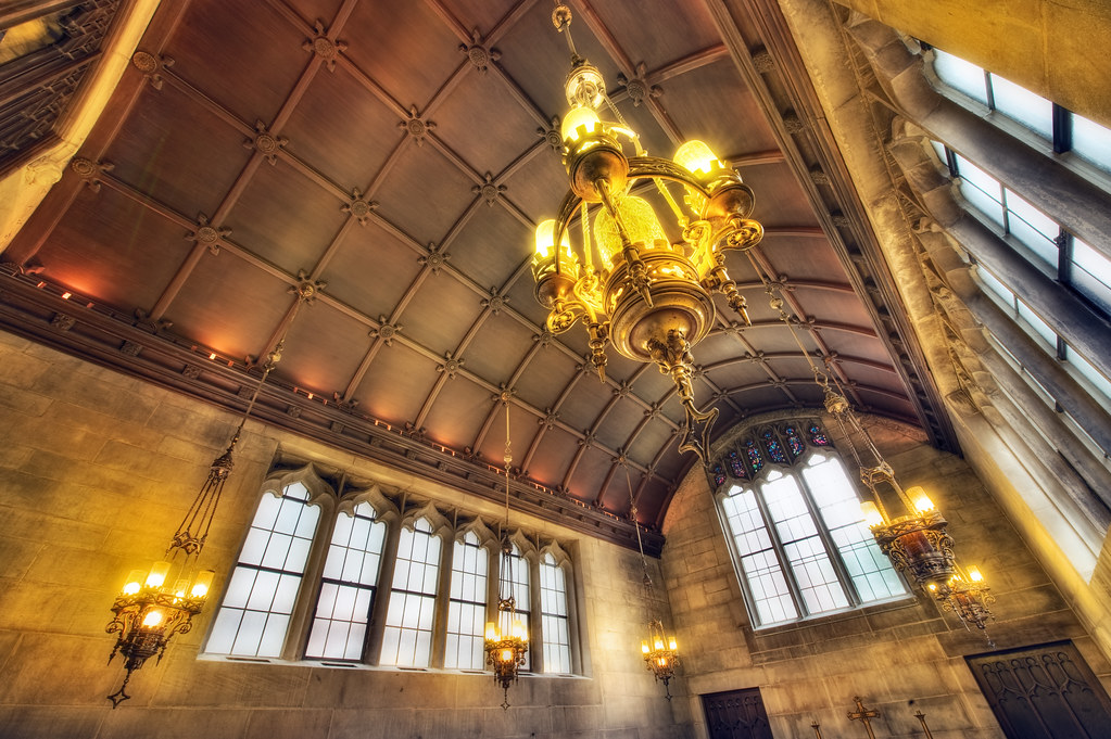 The Hilton Chapel - and its glorious lamps