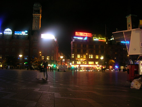 Radhusplasen en la noche