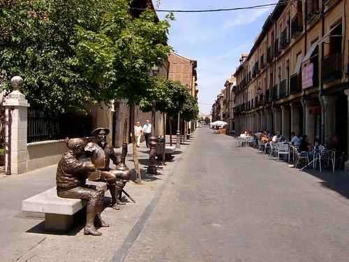 Don Quijote y Sancho en Alcalá