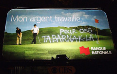 (-Antoine-) Tags: topf25 work golf advertising graffiti pub quebec ad working billboard advertisement qubec golfing quebeccity publicit argent golfers golfer stroch adbuster publicite nationale fuckers banque banquenationale travailler saintroch tabarnak travaille golfeur advertiement tabarnac golfeurs 20octobre